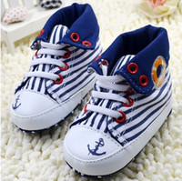 Unisex Summer Cotton 5%off New! Striped pirate baby shoes! Baby shoes! High-top shoes lapel baby! BB shoes!Drop ship!Outlets!sale!Wholesale! 6pairs 12pcs. C.