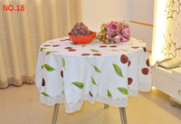 Polyester / Cotton pvc table cloth - Special offer many plastic tablecloth with thick PVC waterproof and oil disposable table cloth