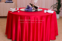Wholesale Hotel restaurant tablecloth restaurant meeting sarong round table cloth color lt lt red
