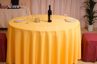 Wholesale Hotel restaurant tablecloth restaurant meeting sarong round table cloth color lt lt yellow