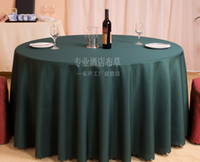 Wholesale Hotel restaurant tablecloth restaurant meeting sarong round table cloth color lt lt dark green