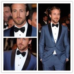 Wholesale wedding tuxedos Blue Mens Tailored Suit Blazer Trouser Coat Pant Jacket Indo Western Wedding Tuxedo Custom made
