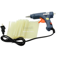 Wholesale 4sets New W V Blue Mini Hot Melt Mini Gluegun Glue Gun Glue Sticks TK0898