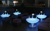 Wholesale 2014 NEW Outdoor Multi color Changing Led Coffee Table Led Cocktail Table Nightclub Furniture cm With Remote Controller