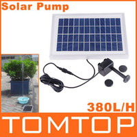 Wholesale Freeshipping L H Polycrystalline Silicon Cycle Pond Fountain Solar Fountain Solar Water Pump Dropshipping