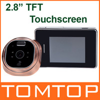 Wholesale 2 TFT Touchscreen Electronic Digital Peephole Viewer Doorbell Security Camera Monitoring System Night Vision Motion Detection
