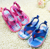 beach sandal sole - 2014 hot style Newborn sandals Cheap flip flops beach sandals Baby toddler shoes Soft soled baby shoes china store sale pair CL
