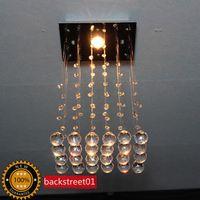 LED 110V Surface mounted Details about Modern Square Crystal Pendant Lamp Ceiling Light Rain Drop Chandelier Lighting D