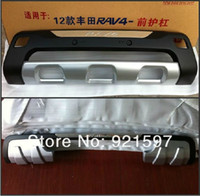Wholesale original style chrome auto parts front and rear bumper guard for Toyota RAV4 car body parts body kits