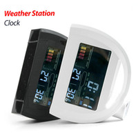 Digital Alarm Clocks  Alarm Exclusive dome large color weather forecast weather station clock temperature humidity calendar