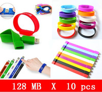 In Stock usb wristband - 10pcs X mb Silicone Wristbands USB Flash Pen Drive USB HOT sales high quality OEM service Brand New Genuine Capacital