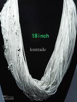 Wholesale Bulk silver fashion Venetian Link box chain necklace hot sale MM inch