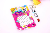 Wholesale TOP new R SIM RSIM9 R SIM9 Pro Perfect SIM Card Unlock Official IOS ios RSIM for iphone S G S C GSM CDMA WCDMA G G