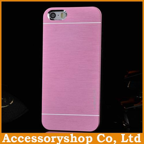 Buy iPhone 4 4S 5 5S MOTOMO Metal & PC Case New Design Colorful Brushed Pattern Cover Slim Aluminium Alloy Back Shell POST