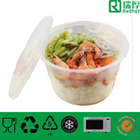 Wholesale plastic clear lunch food storage container