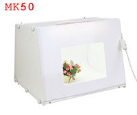 Wholesale 110V V EU US UK Plug SANOTO Kit quot quot Portable Mini Photo Studio Photo Photography Box Softbox Studio Light MK50