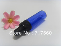 Wholesale 1000pcs ML COBALT BLUE GLASS EYE DROPPER BOTTLES VIALS ESSENTIAL OIL PERFUME LIQUID BOTTLES