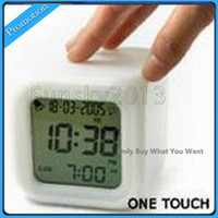 Wholesale 2014 New Colorful Color Feel Alarm Clock Large Random Color