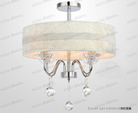 Wholesale LLFA347 Restaurant crystal chandelier modern minimalist restaurant room lighting LED Crystal Light bedroom lamp ceiling lamp lighting
