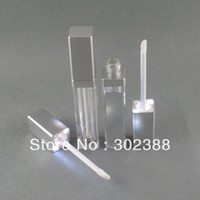 Wholesale DHL LED light lip gloss container LED lip gloss bottle with mirror on one face