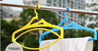 Wholesale Housekeeping tools Mixed Colorful Velvet Flocked Non slip Clothes Hanger Magic Creative Heart Dress Hangers Cloth Racks Free
