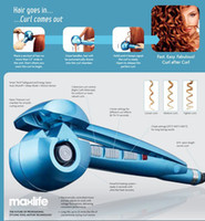 UA Black Monofunctional curler Free shipping Professional Automatic Curls Ceramic Curl Secret Perfect Curl Magic Hair Curlers Blue Color Dual Voltage Straightening Irons