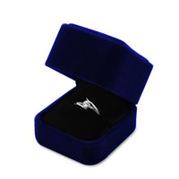 Wholesale Brand New Blue Good Jewelry Boxes for Pendant Neclace Wedding Rings Bangle Bracelet Factory Price