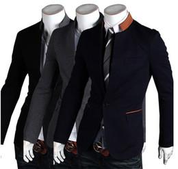 Wholesale New Fashion Men Suit CONTRAST COLOR Stand Collar Single Button Hot Selling Coo Men Blazer piece