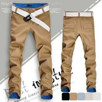 Wholesale Hot fashion fit mens casual pants new design business trousers high quality cotton pants colors size