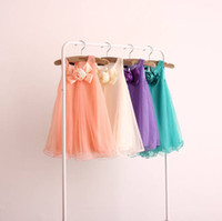 Wholesale 2014 Summer Baby Girls Dresses skirts Mesh Cotton Material Children Girls Dresses Princess Kids Dresses color