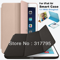 Wholesale Hot Sale Leather Case For iPad iPad Air Smart Case Official Original Slim Flip Stand Cases For Apple iPad Air Cover