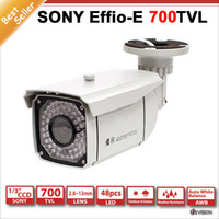 Wholesale 700TVL cctv bullet camera sony effio e w mm IR LEDs built in IR weatherproof security indoor cctv cameras