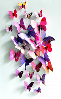 Wholesale Multicolor D Artificial Butterfly Magnet Imitate Really Colorful Butterfly Wedding Gift Home Decoration Fridge Magnets CM Set