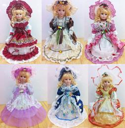 Wholesale 18 inches cm Victorian Porcelain Dolls china doll Porcelain doll Chyna Girl Girl s gift Pattern Assortments Color Box