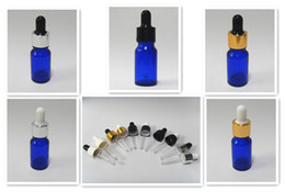 Wholesale 540pcs Pack ml Oz Cobalt Blue glass Eye dropper bottles Vails for Essential oil cosmetics container U choose cap color