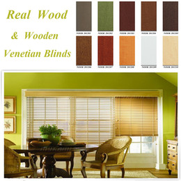 Wholesale SUPERIOR MADE TO MEASURE WOODEN VENETIAN BLINDS WITH TAPES REAL WOOD MM MM