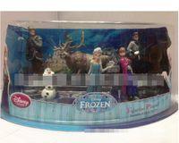 Multicolor figurines - EMS Children Toys Movie Piece Figurine Playset Action Figure Play Set Anna Elsa Hans Kristoff Sven Olaf Kids Gift Box Sets D2241
