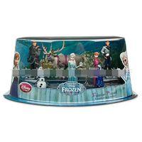 Wholesale EMS Children Toys Movie Frozen Piece Figurine Playset Action Figure Play Set Anna Elsa Hans Kristoff Sven Olaf Kids Gift Box Sets D2241
