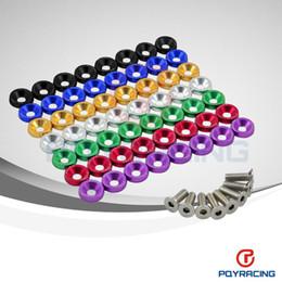 PQY магазин- 8PCS / LOT JDM Style шайбами бампер Шайба Lisence Пластинчатые Болты Наборы для CIVIC ACCORD