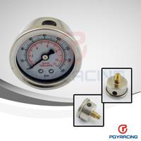 Wholesale PQY RACING Fuel Pressure Gauge Liquid psi Oil Pressure Gauge Fuel Gauge White Face PQY OG33