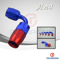 Wholesale 4 AN AN Degree Aluminum Swivel Hose End Fitting Adapter Oil Fuel Line