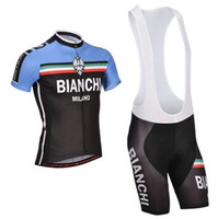 Wholesale High Quality New BIANCHI Cycling Clothing Set Summer Short Sleeve Cycling Jersey Cycling Shorts Size XS XXXXL GEL PANTS