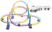 Wholesale new super track roller coaster model electric train track toys for children