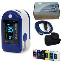 venda por atacado finger oximeter-NOVO FDA CE Contec Finger Oximetro de pulso spo2 Fingertip Oxygen Monitor CMS50D