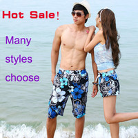 Wholesale 2013 Shorts for women men beach pants flower fashion New couple the shorts swimming Mens girls Board short shorts