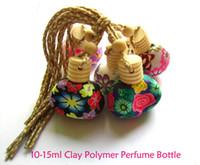 handmade clay pendant - new Style Car perfume pendant ml Clay Polymer Perfume Bottle Handmade car perfume bottle100pcs