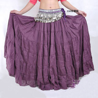 Belly Dancing Sequin Cotton Hot New Belly Dance Dancing Costume Tribal Gypsy 7 Tiered Circle Linen Skirt Dcu