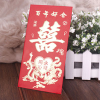 Cheap Festive red envelope wedding supplies wedding personalized red bag marry red envelope the levitical thing letter