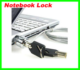 Самая низкая цена БЕСПЛАТНО FEDEX 180pcs / много Портативный компьютер ноутбук для защиты кабелей цепи блокировки клавиатуры Бесплатная доставка