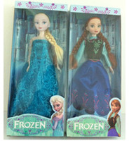 Wholesale EMS Princess Anna Elsa Dress Action Figure Froze Children Birthday Gifts Cartoon Anime Movies Accessories Kids Toys Snow D2243